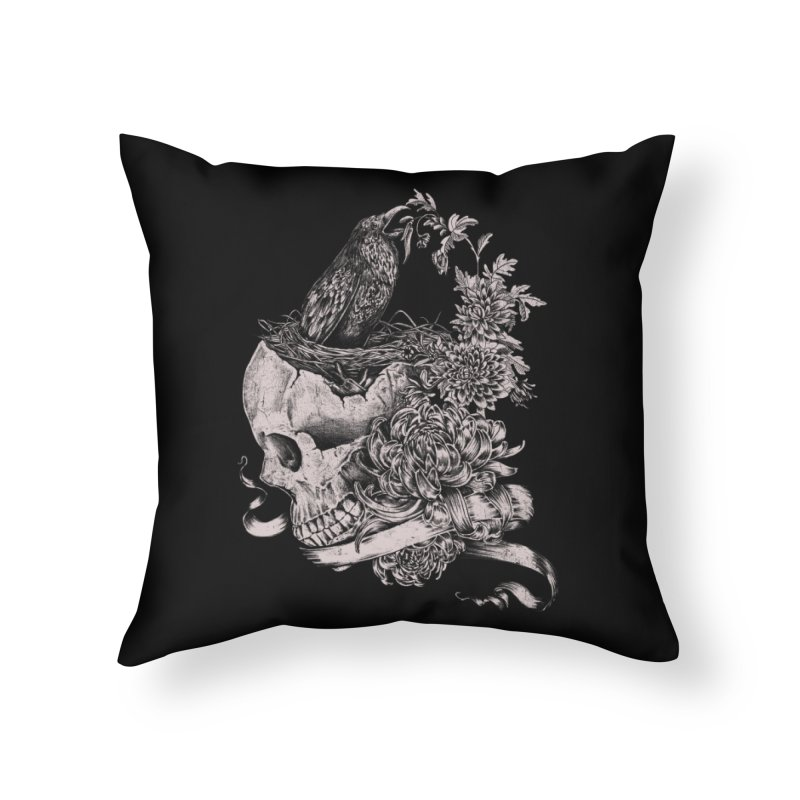 Crow Home Throw Pillow by jackduarte's Artist Shop