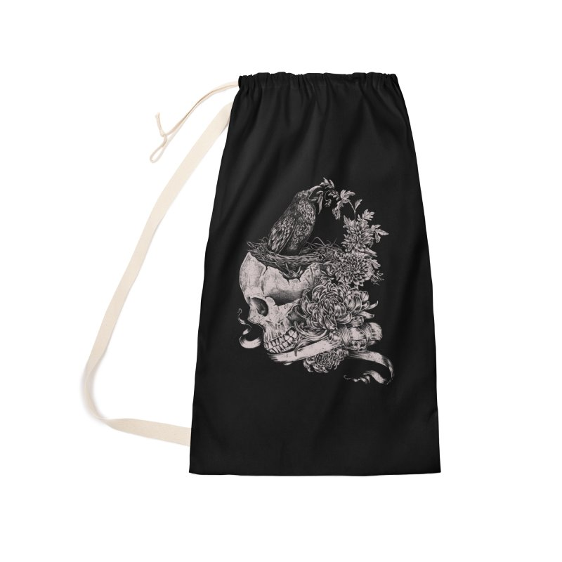 Crow Accessories Laundry Bag Bag by jackduarte's Artist Shop