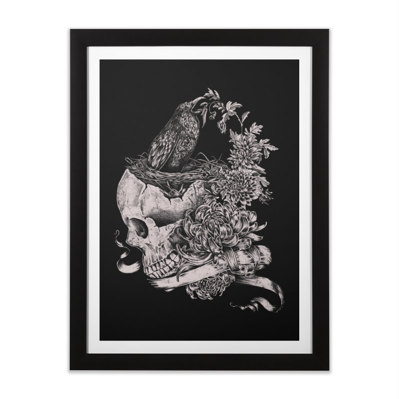 Crow Home Framed Fine Art Print by jackduarte's Artist Shop