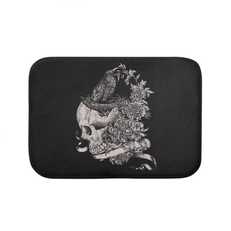 Crow Home Bath Mat by jackduarte's Artist Shop
