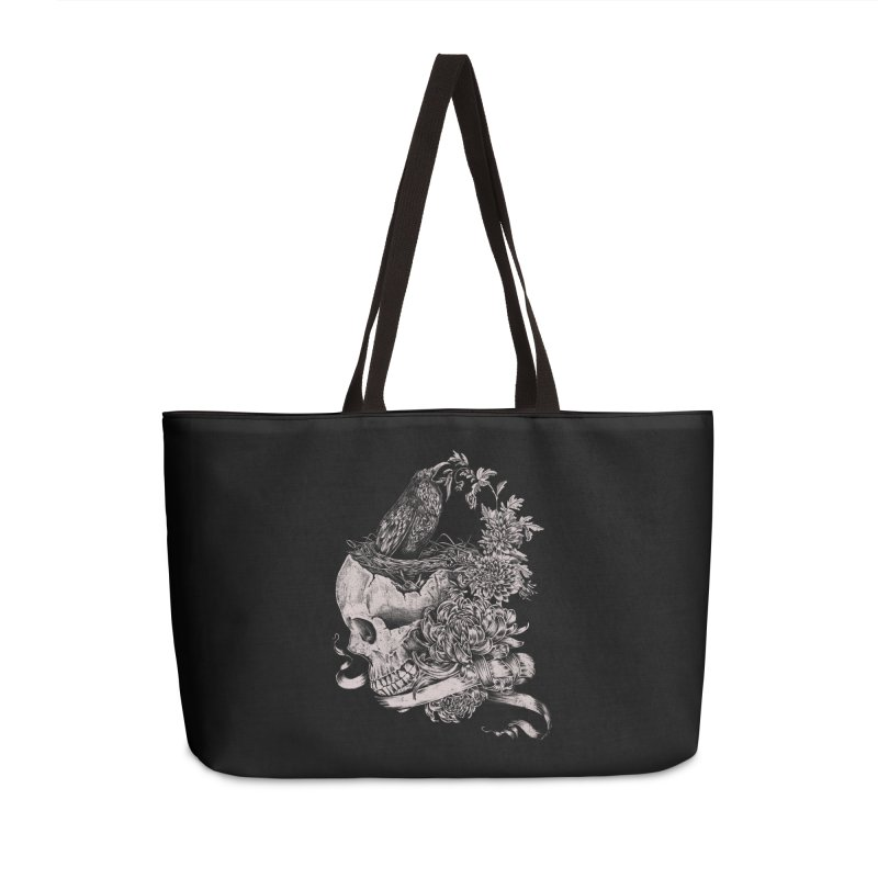Crow Accessories Weekender Bag Bag by jackduarte's Artist Shop