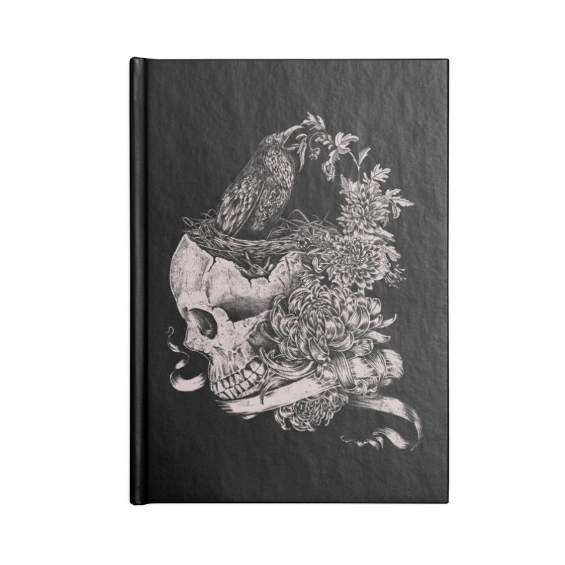 Crow Accessories Lined Journal Notebook by jackduarte's Artist Shop