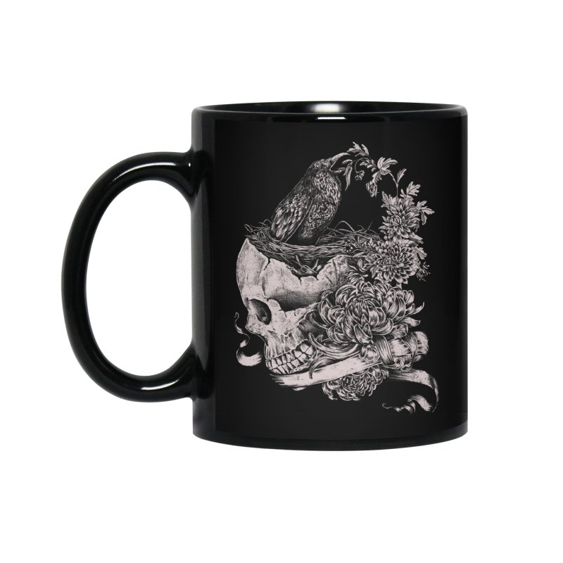 Crow Accessories Standard Mug by jackduarte's Artist Shop