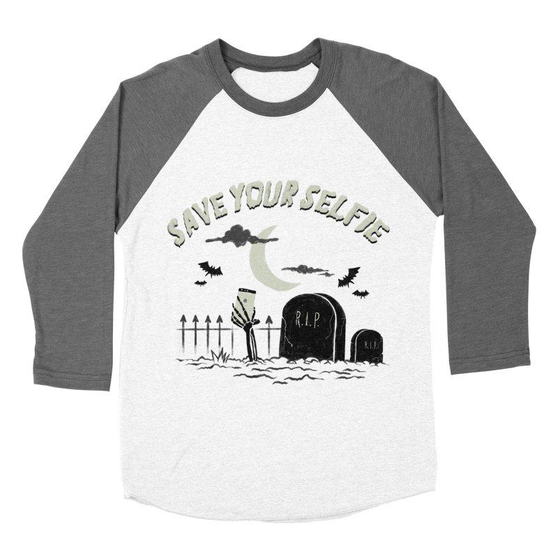 Save your selfie Men's Baseball Triblend Longsleeve T-Shirt by jackduarte's Artist Shop