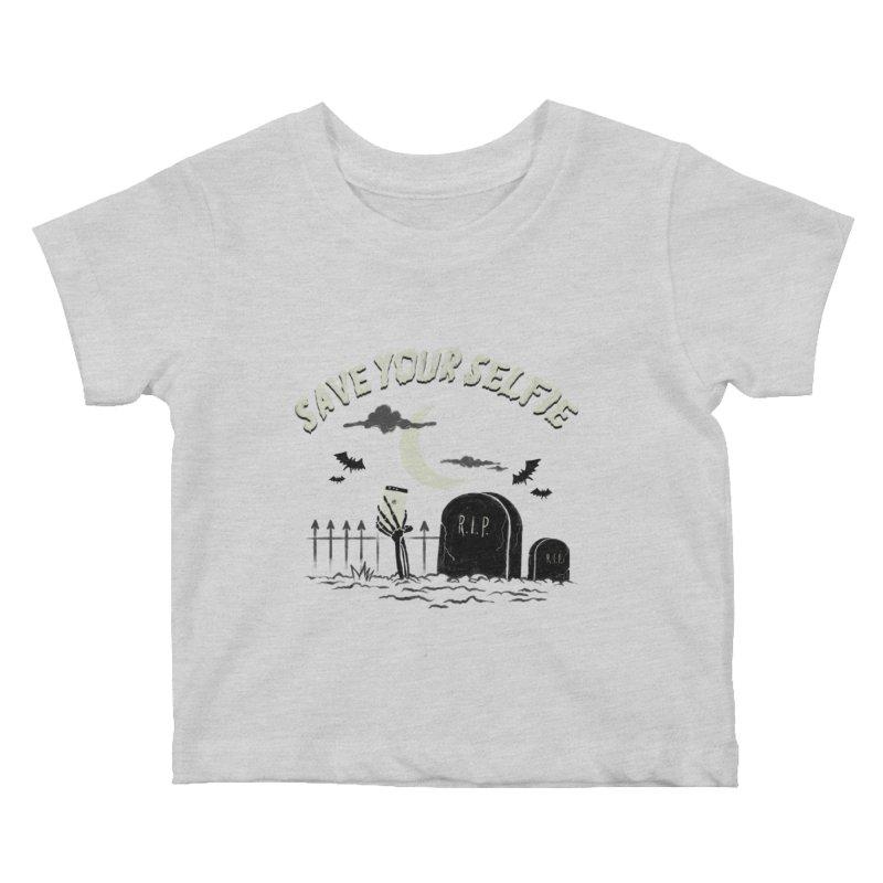 Save your selfie Kids Baby T-Shirt by jackduarte's Artist Shop