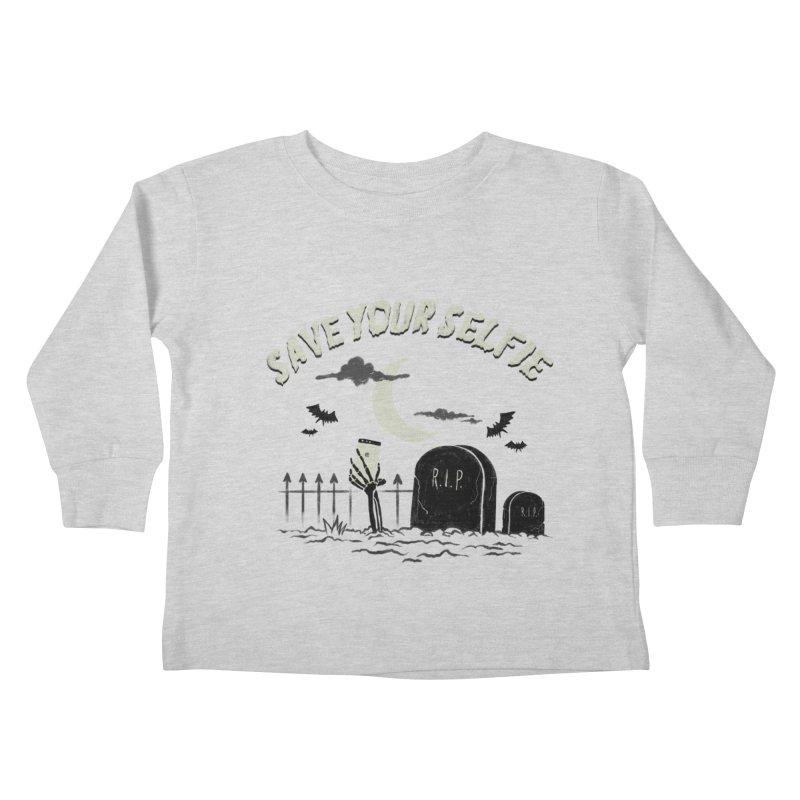 Save your selfie Kids Toddler Longsleeve T-Shirt by jackduarte's Artist Shop