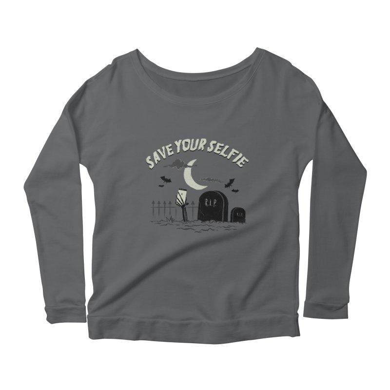 Save your selfie Women's Scoop Neck Longsleeve T-Shirt by jackduarte's Artist Shop