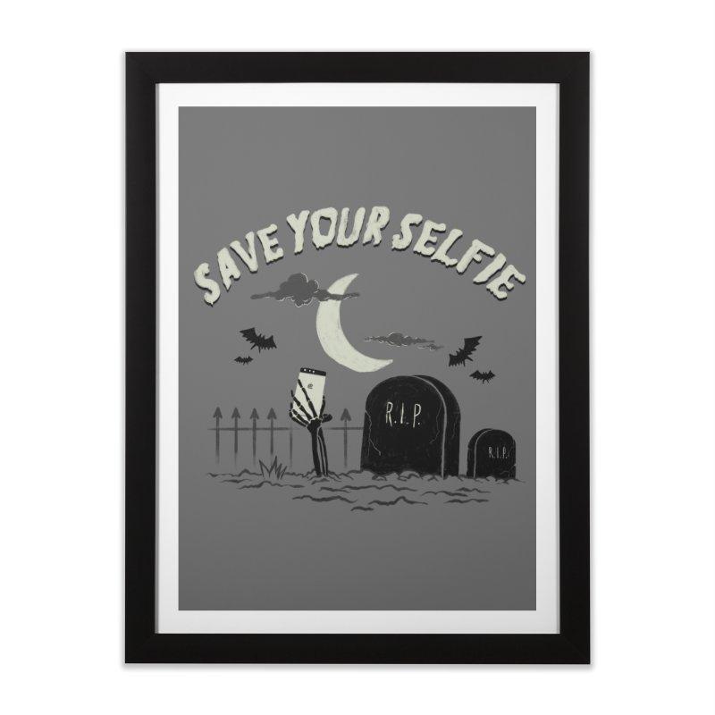 Save your selfie Home Framed Fine Art Print by jackduarte's Artist Shop
