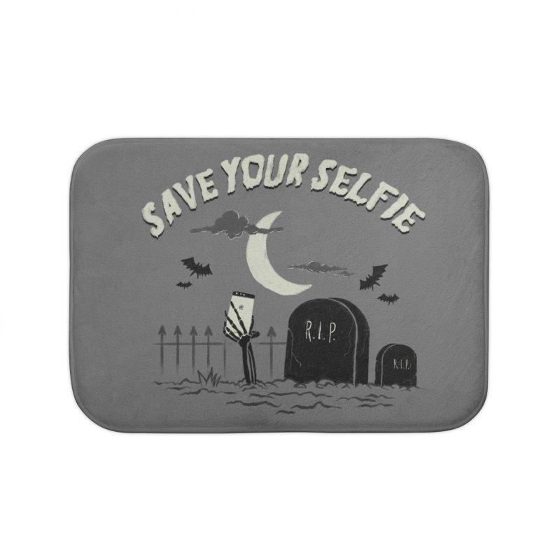 Save your selfie Home Bath Mat by jackduarte's Artist Shop