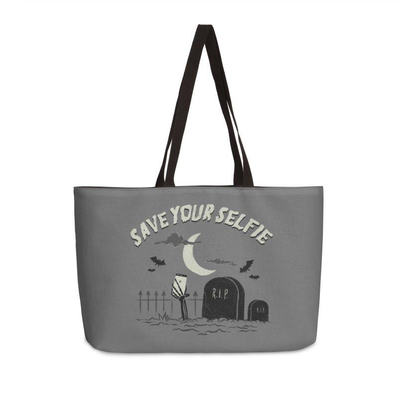 Save your selfie Accessories Weekender Bag Bag by jackduarte's Artist Shop