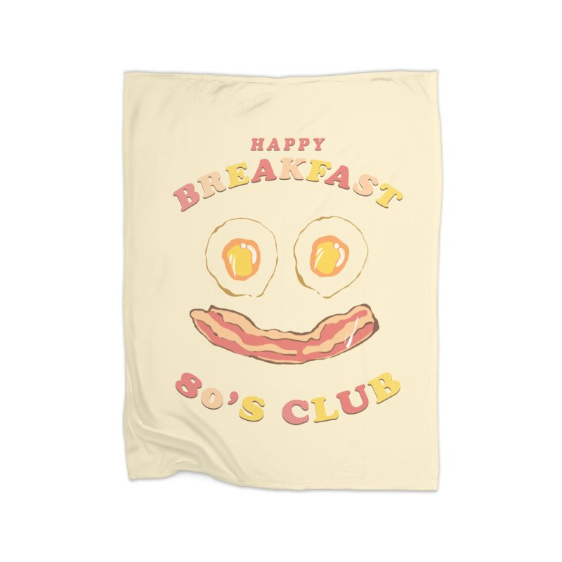 Happy breakfast Home Fleece Blanket Blanket by jackduarte's Artist Shop