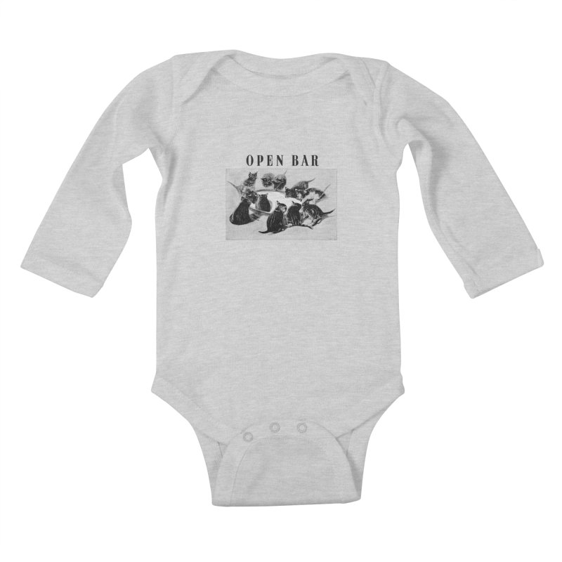 OPEN BAR Kids Baby Longsleeve Bodysuit by jackduarte's Artist Shop