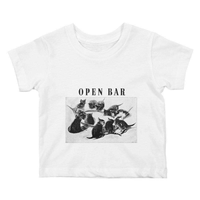 OPEN BAR Kids Baby T-Shirt by jackduarte's Artist Shop