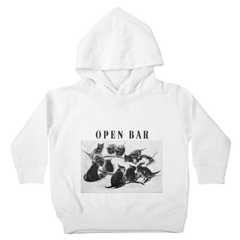 OPEN BAR Kids Toddler Pullover Hoody by jackduarte's Artist Shop
