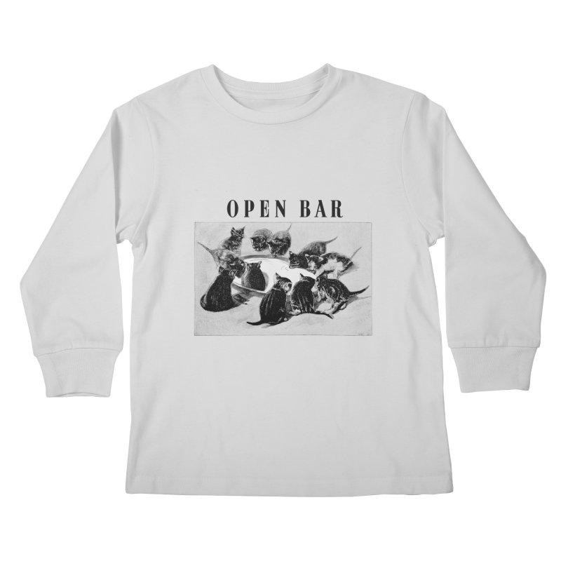 OPEN BAR Kids Longsleeve T-Shirt by jackduarte's Artist Shop