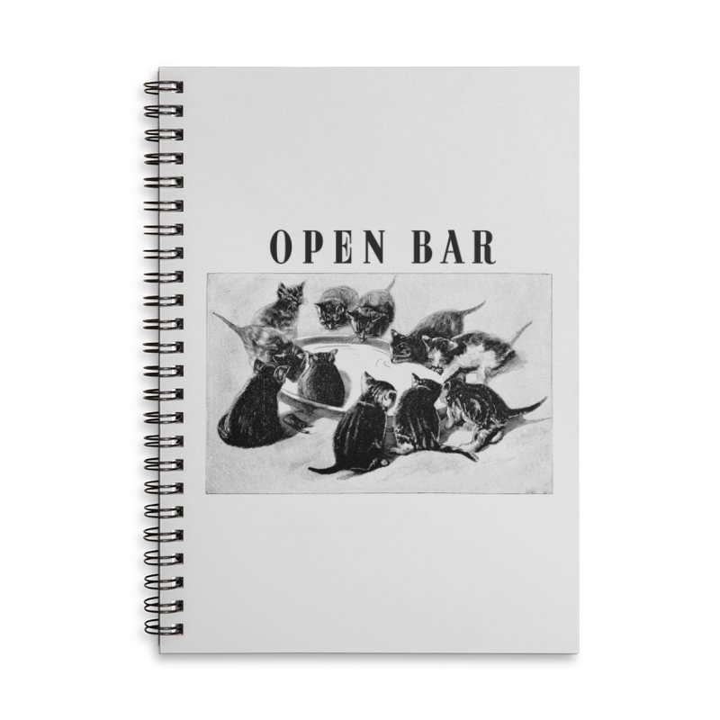 OPEN BAR Accessories Lined Spiral Notebook by jackduarte's Artist Shop