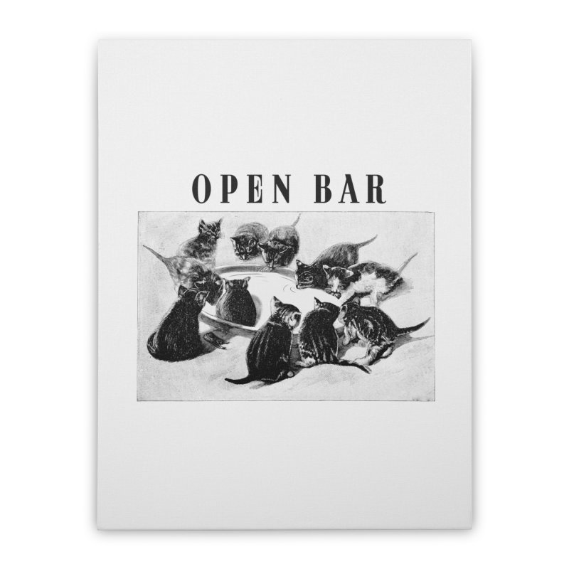 OPEN BAR Home Stretched Canvas by jackduarte's Artist Shop