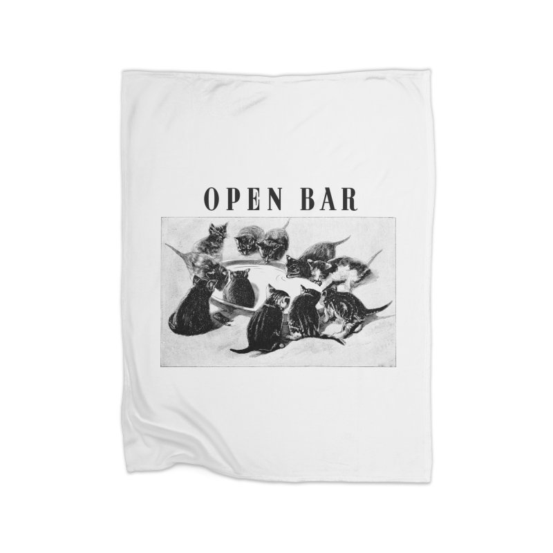 OPEN BAR Home Fleece Blanket Blanket by jackduarte's Artist Shop