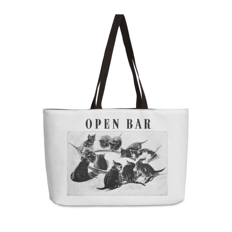 OPEN BAR Accessories Weekender Bag Bag by jackduarte's Artist Shop