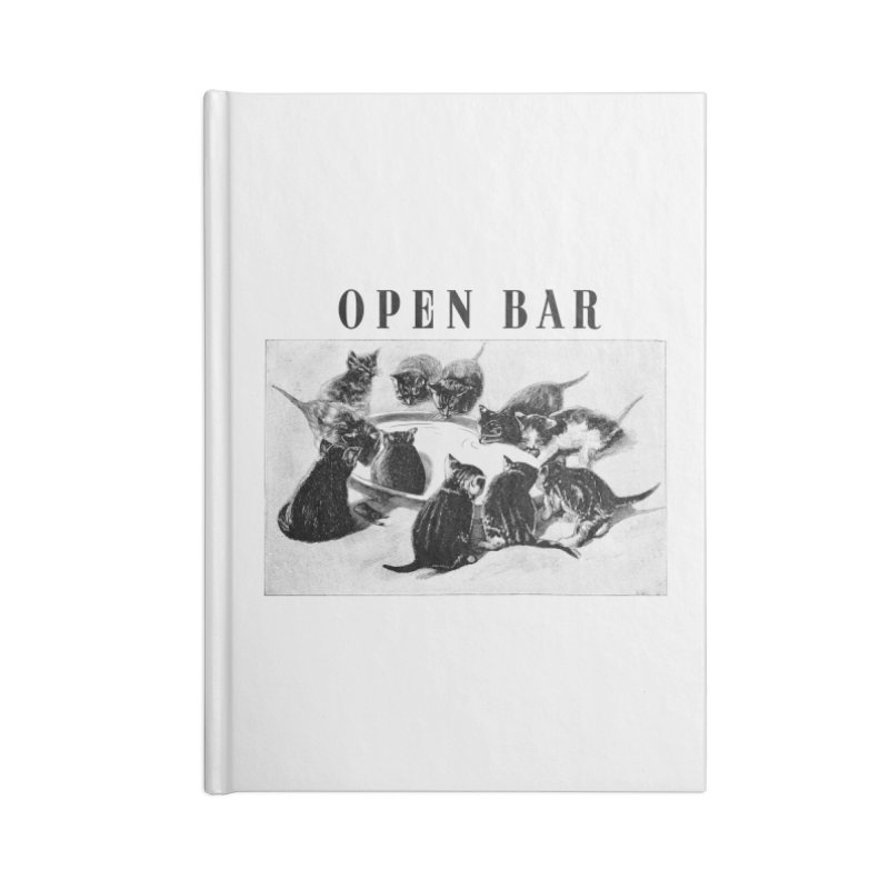 OPEN BAR Accessories Lined Journal Notebook by jackduarte's Artist Shop
