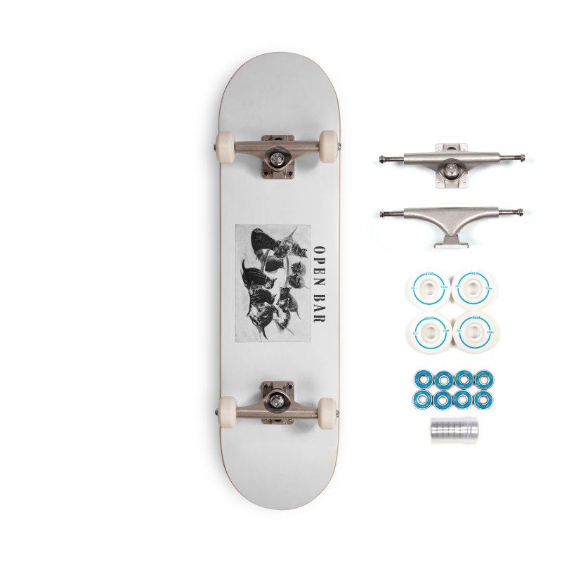 OPEN BAR Accessories Complete - Basic Skateboard by jackduarte's Artist Shop