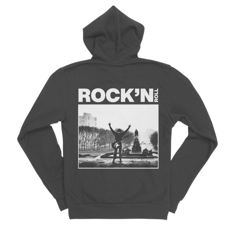 Rock'n Roll Men's Sponge Fleece Zip-Up Hoody by jackduarte's Artist Shop