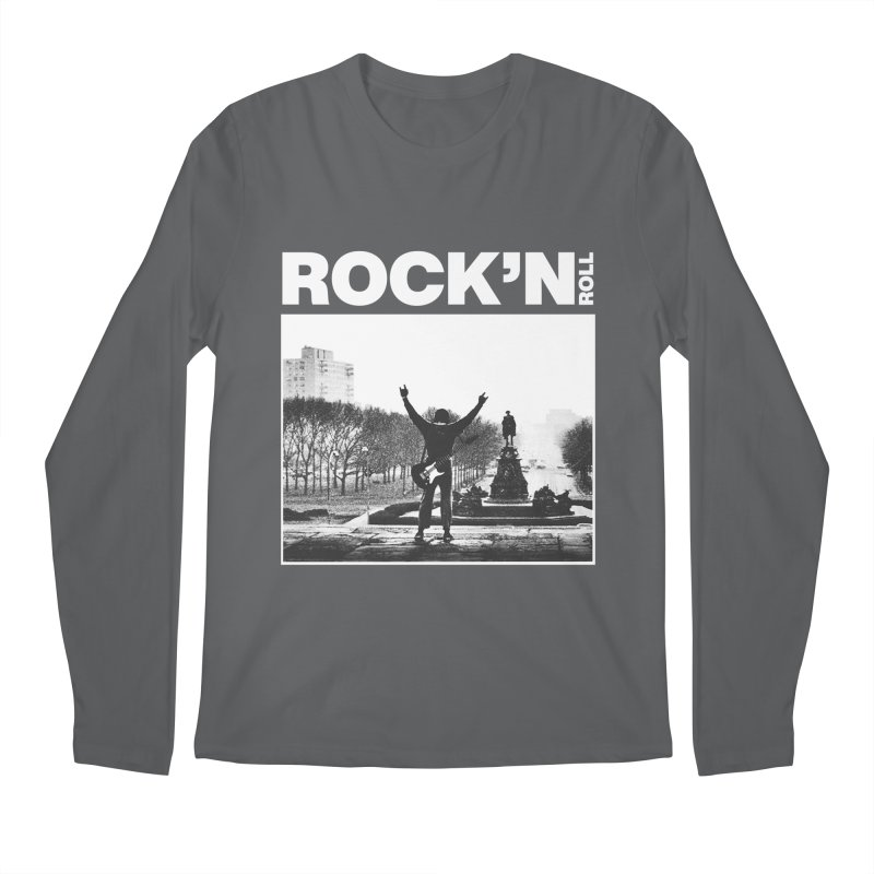 Rock'n Roll Men's Regular Longsleeve T-Shirt by jackduarte's Artist Shop