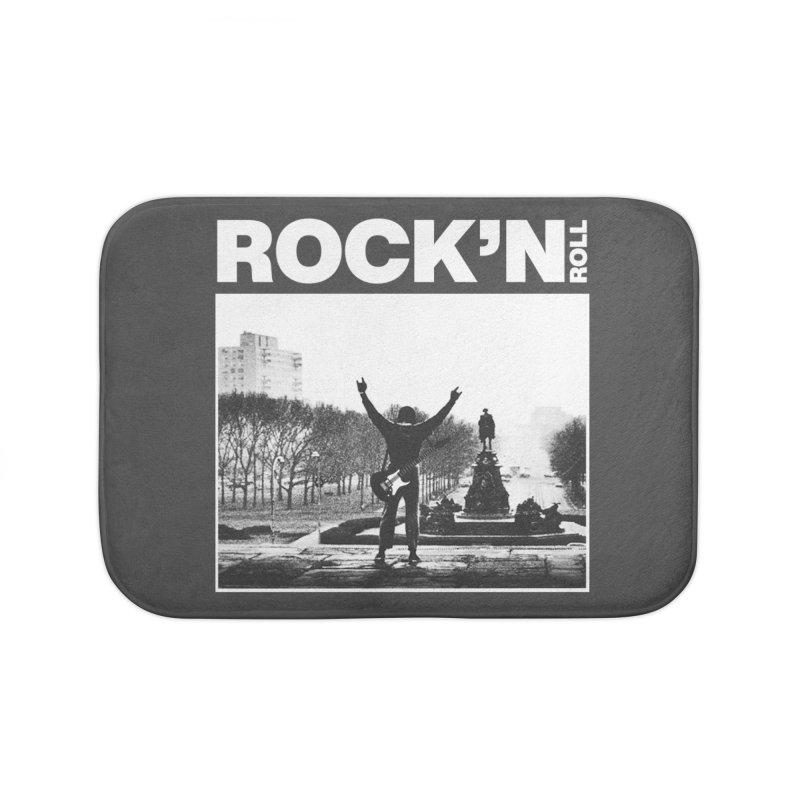 Rock'n Roll Home Bath Mat by jackduarte's Artist Shop
