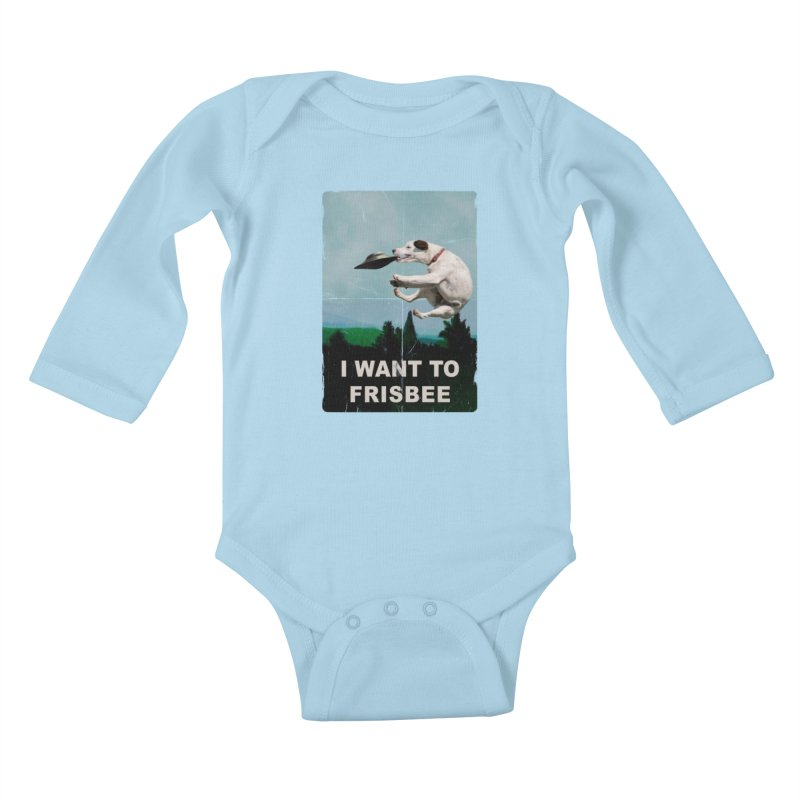 I want Frisbee Kids Baby Longsleeve Bodysuit by jackduarte's Artist Shop