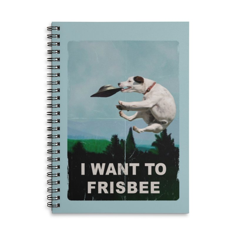 I want Frisbee Accessories Lined Spiral Notebook by jackduarte's Artist Shop