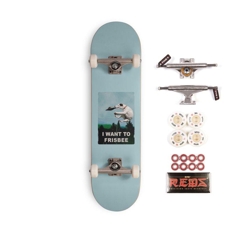I want Frisbee Accessories Skateboard by jackduarte's Artist Shop