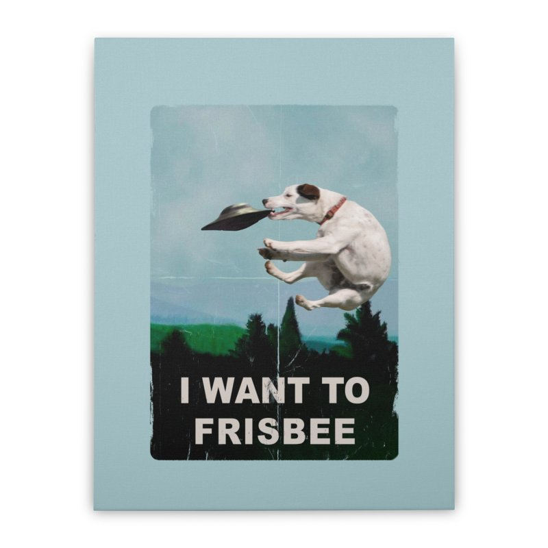 I want Frisbee Home Stretched Canvas by jackduarte's Artist Shop