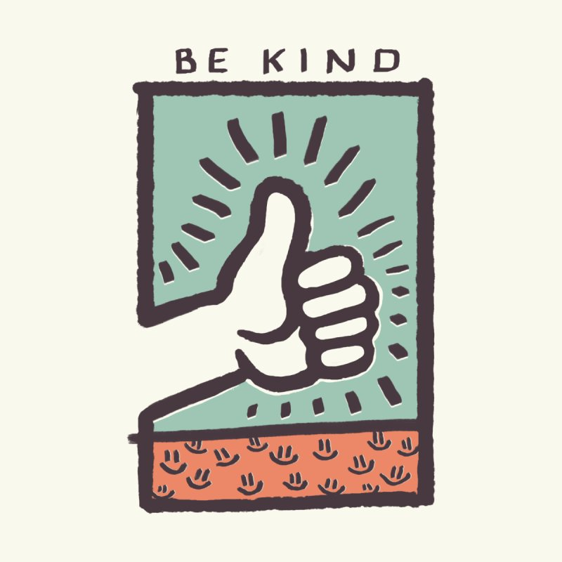 Be Kind Men's Zip-Up Hoody by jackduarte's Artist Shop