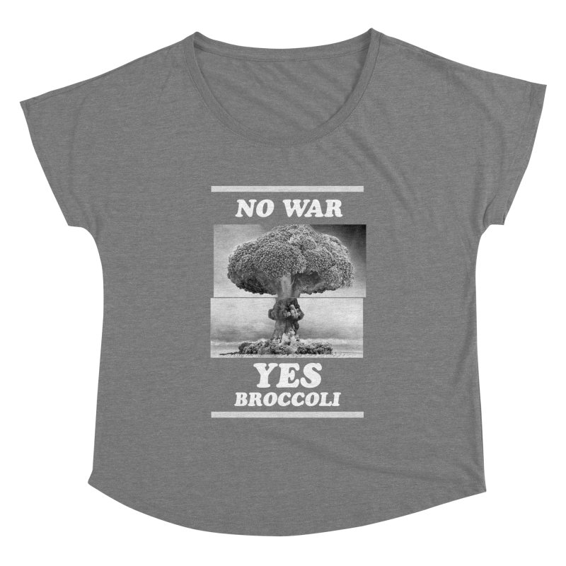 Yes! Broccoli Women's Scoop Neck by jackduarte's Artist Shop