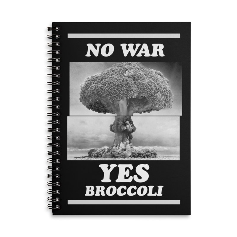 Yes! Broccoli Accessories Notebook by jackduarte's Artist Shop