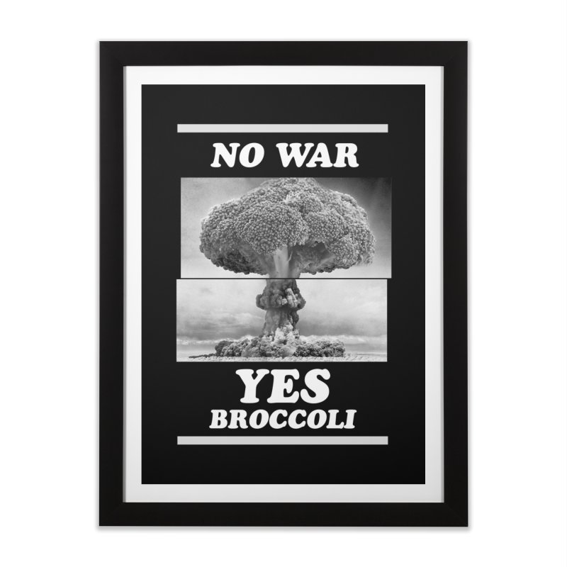 Yes! Broccoli Home Framed Fine Art Print by jackduarte's Artist Shop