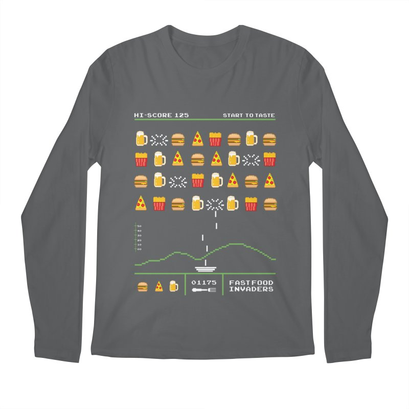 Food Invaders Men's Longsleeve T-Shirt by jackduarte's Artist Shop