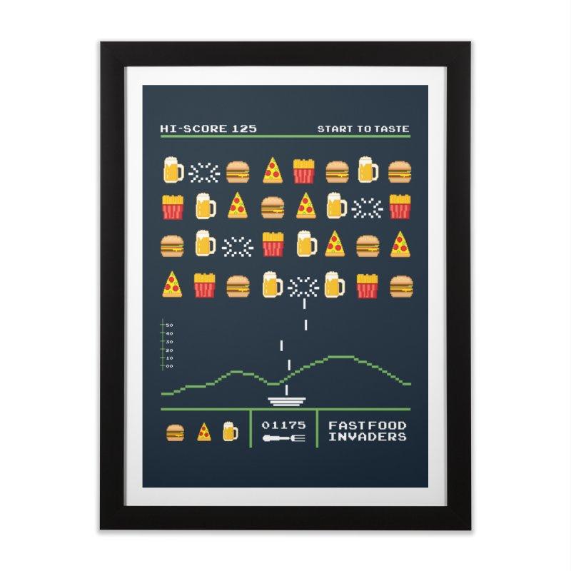 Food Invaders Home Framed Fine Art Print by jackduarte's Artist Shop