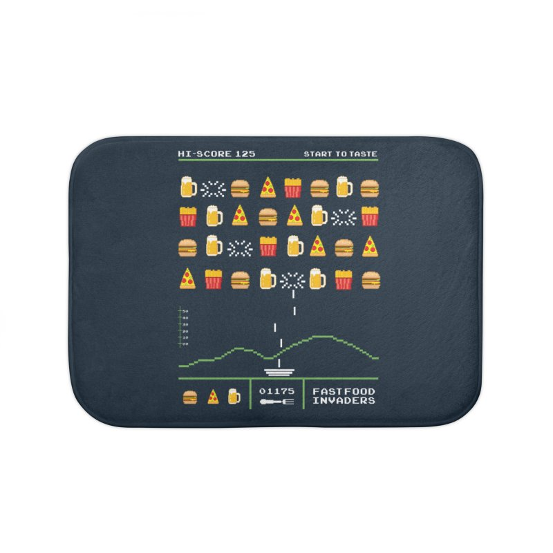 Food Invaders Home Bath Mat by jackduarte's Artist Shop