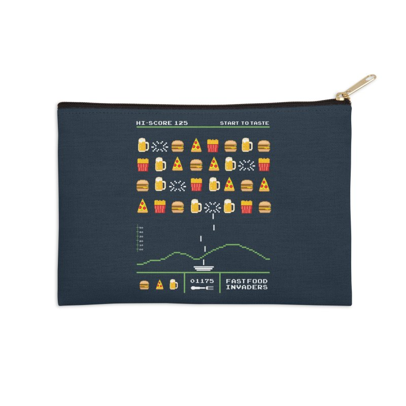 Food Invaders Accessories Zip Pouch by jackduarte's Artist Shop