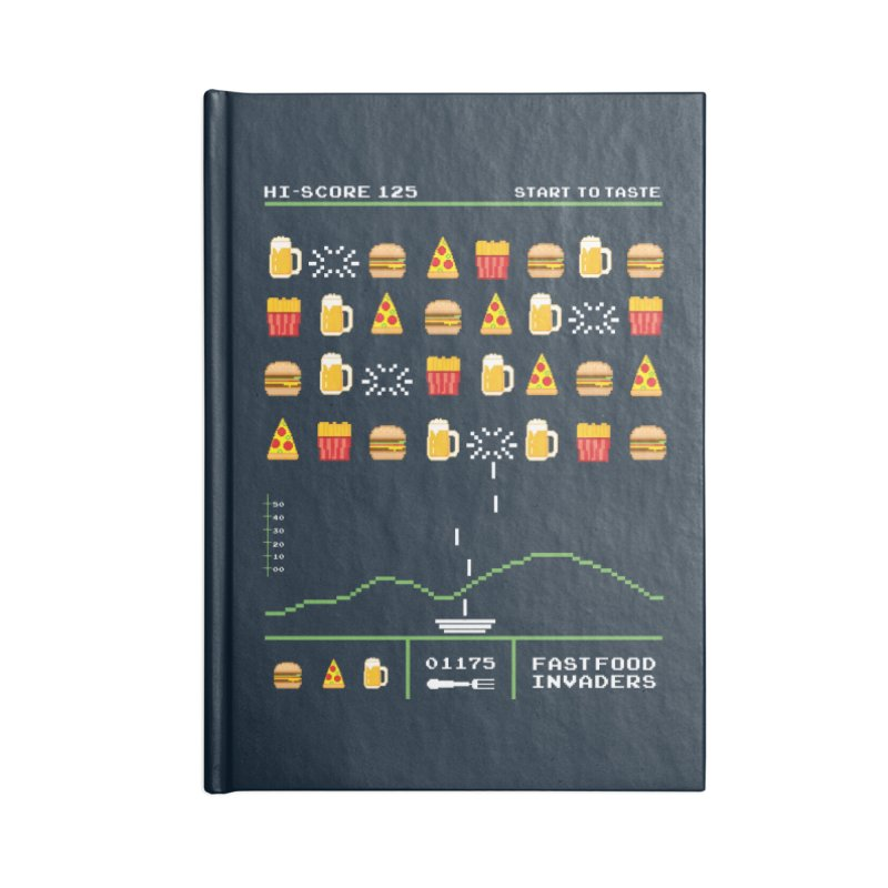 Food Invaders Accessories Notebook by jackduarte's Artist Shop