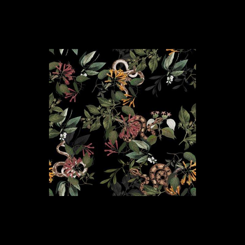 Floral snake Home Blanket by jackduarte's Artist Shop