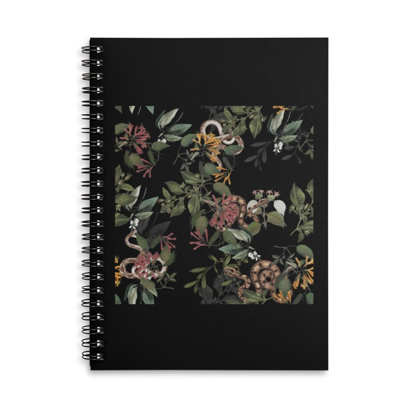 Floral snake Accessories Notebook by jackduarte's Artist Shop
