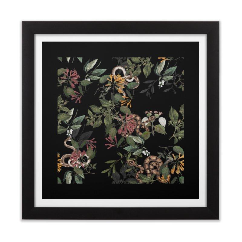 Floral snake Home Framed Fine Art Print by jackduarte's Artist Shop