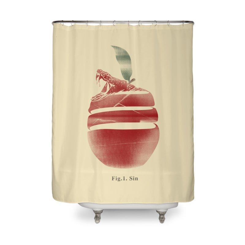 Sin Home Shower Curtain by jackduarte's Artist Shop