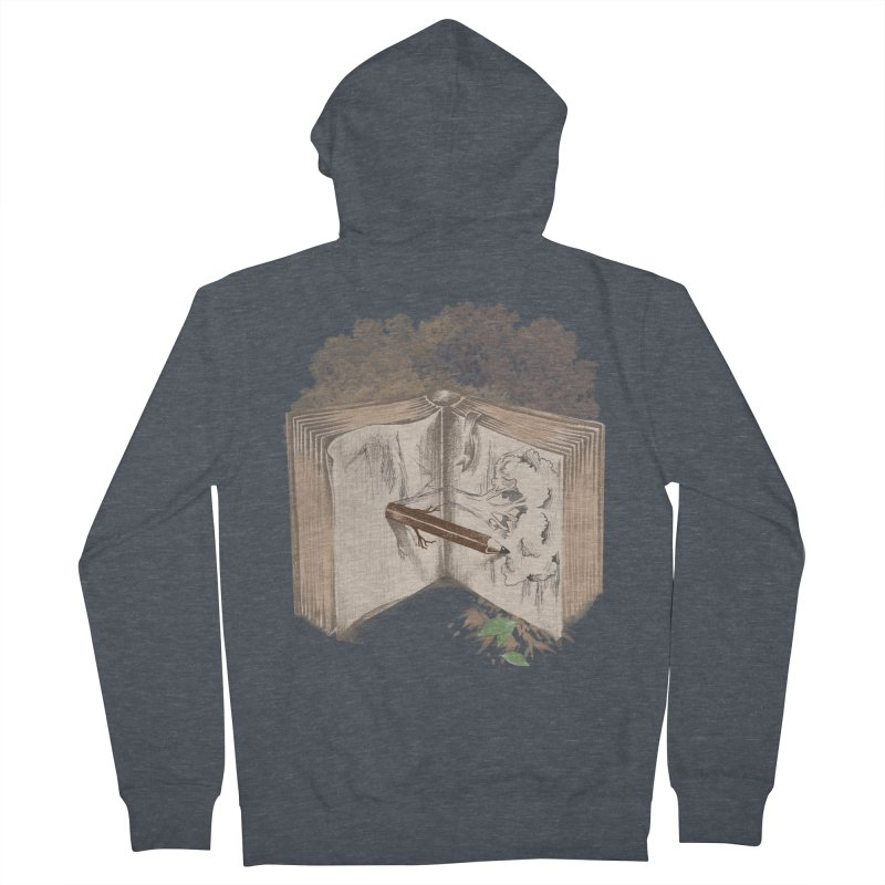 Real sketch Men's French Terry Zip-Up Hoody by jackduarte's Artist Shop