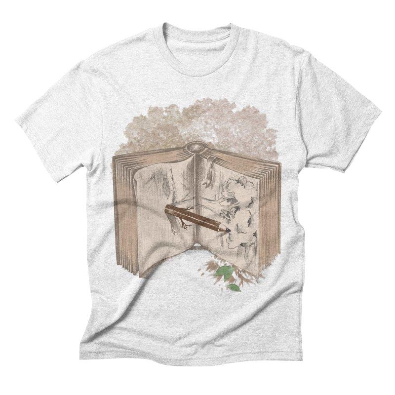 Real sketch Men's Triblend T-shirt by jackduarte's Artist Shop