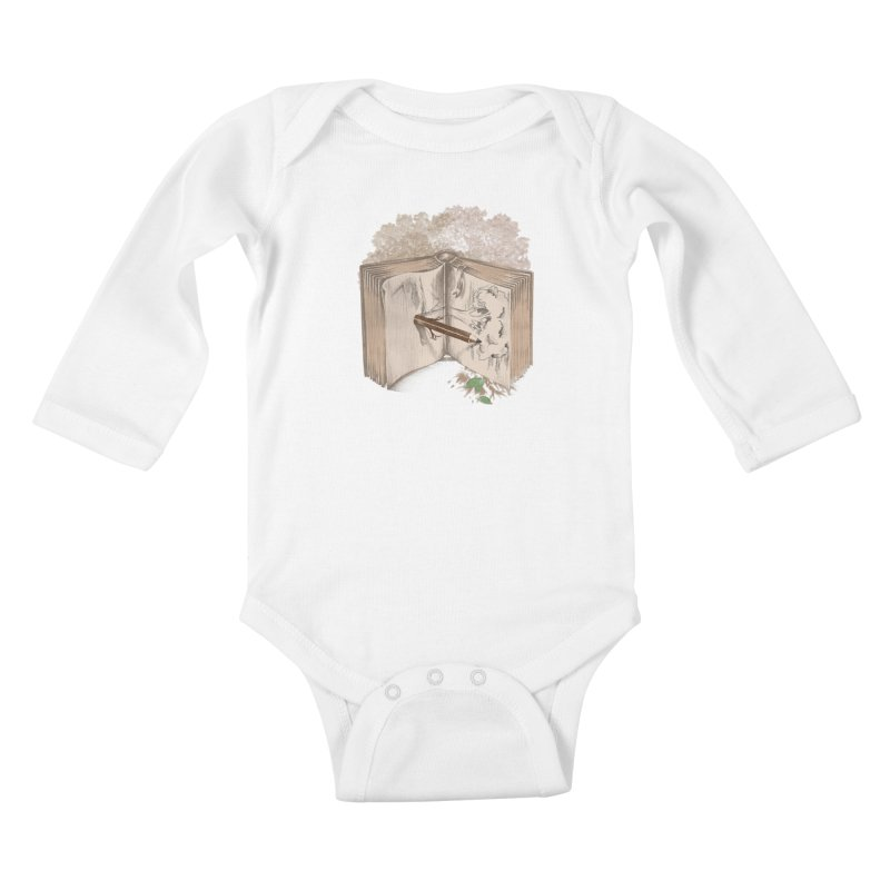 Real sketch Kids Baby Longsleeve Bodysuit by jackduarte's Artist Shop