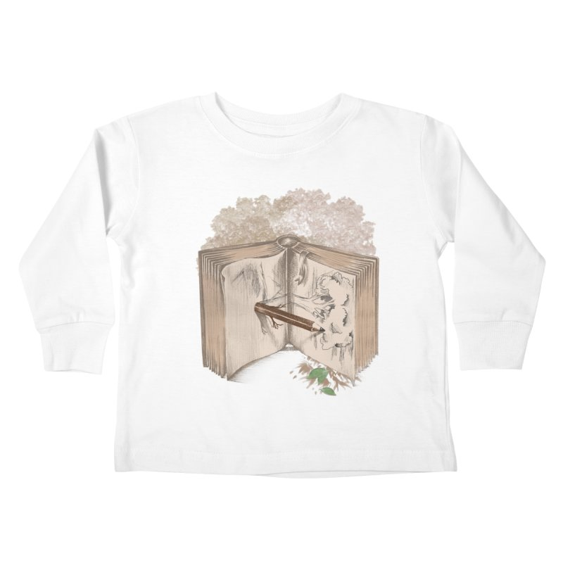 Real sketch Kids Toddler Longsleeve T-Shirt by jackduarte's Artist Shop