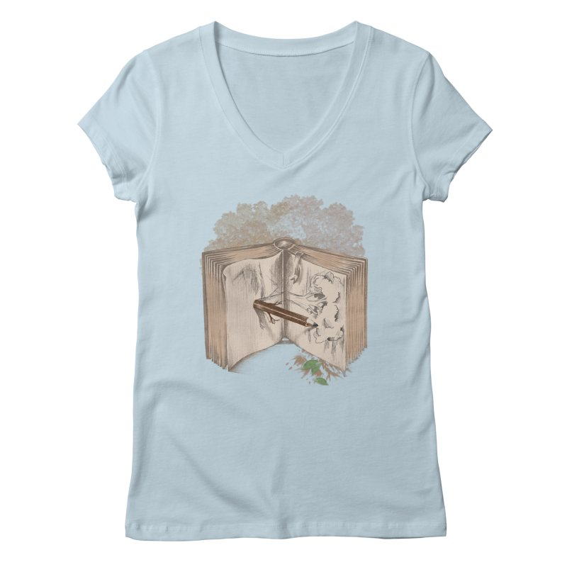 Real sketch Women's V-Neck by jackduarte's Artist Shop